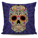 Blue Radiant Skull Pillow Cover - Hello Moa