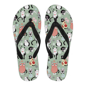 Snuggly Cat Flip Flops