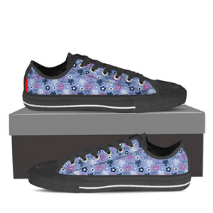 Blue Kitten Low Tops (Women's) - Hello Moa