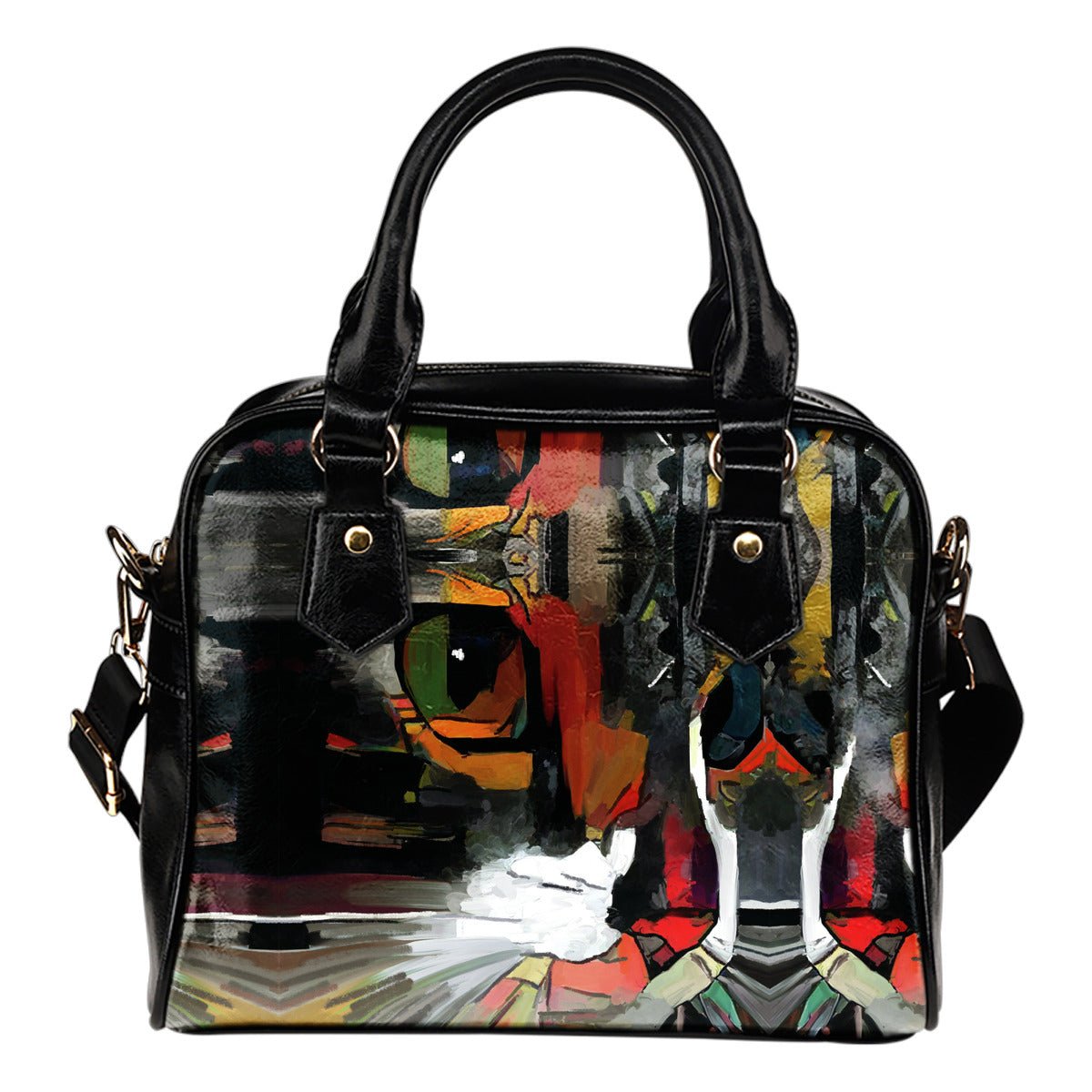 Art Cat Shoulder Handbag