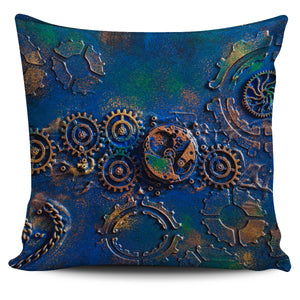 Blue Rust Pillow Cover