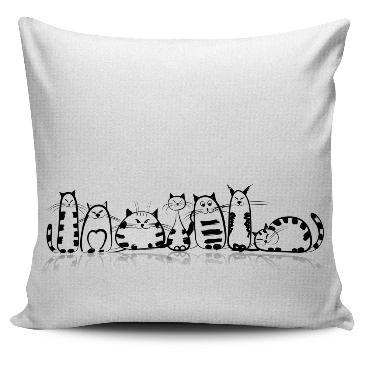 Funny Cat I Pillow Covers - Hello Moa