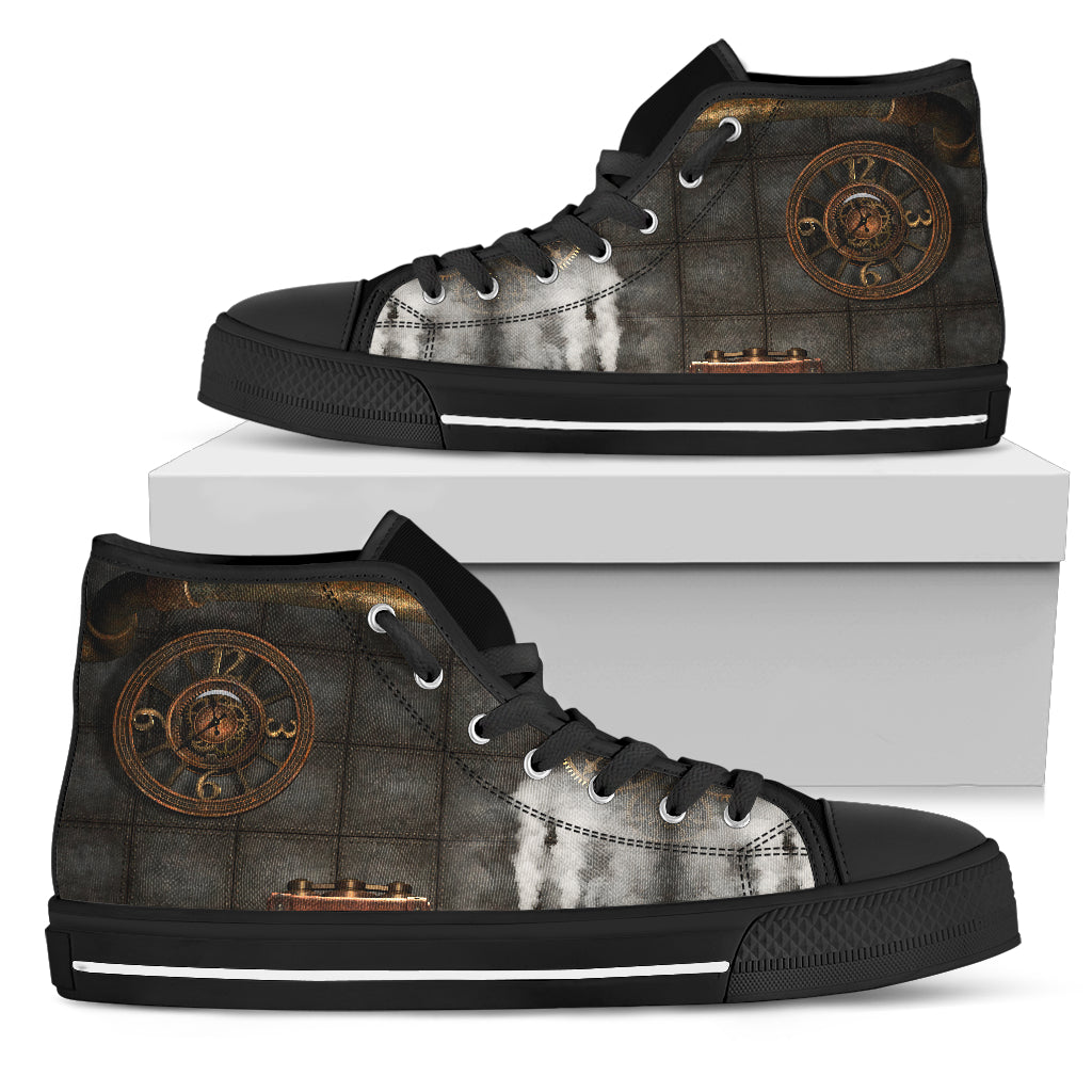 Brass Steampunk Clock Canvas Shoes - Hello Moa