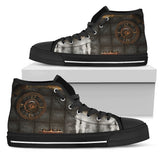 Brass Steampunk Clock Canvas Shoes
