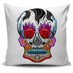 Fire Eye Skull Pillow Cover