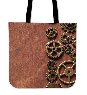 Steampunk Brown Gears Cloth Tote Bag - Hello Moa