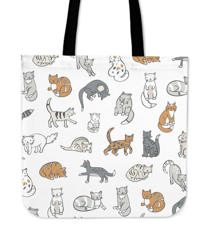Image of Cats Cloth Tote Bag