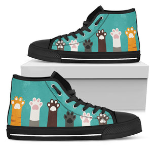 Cat Paws High Tops (Women's) - Hello Moa