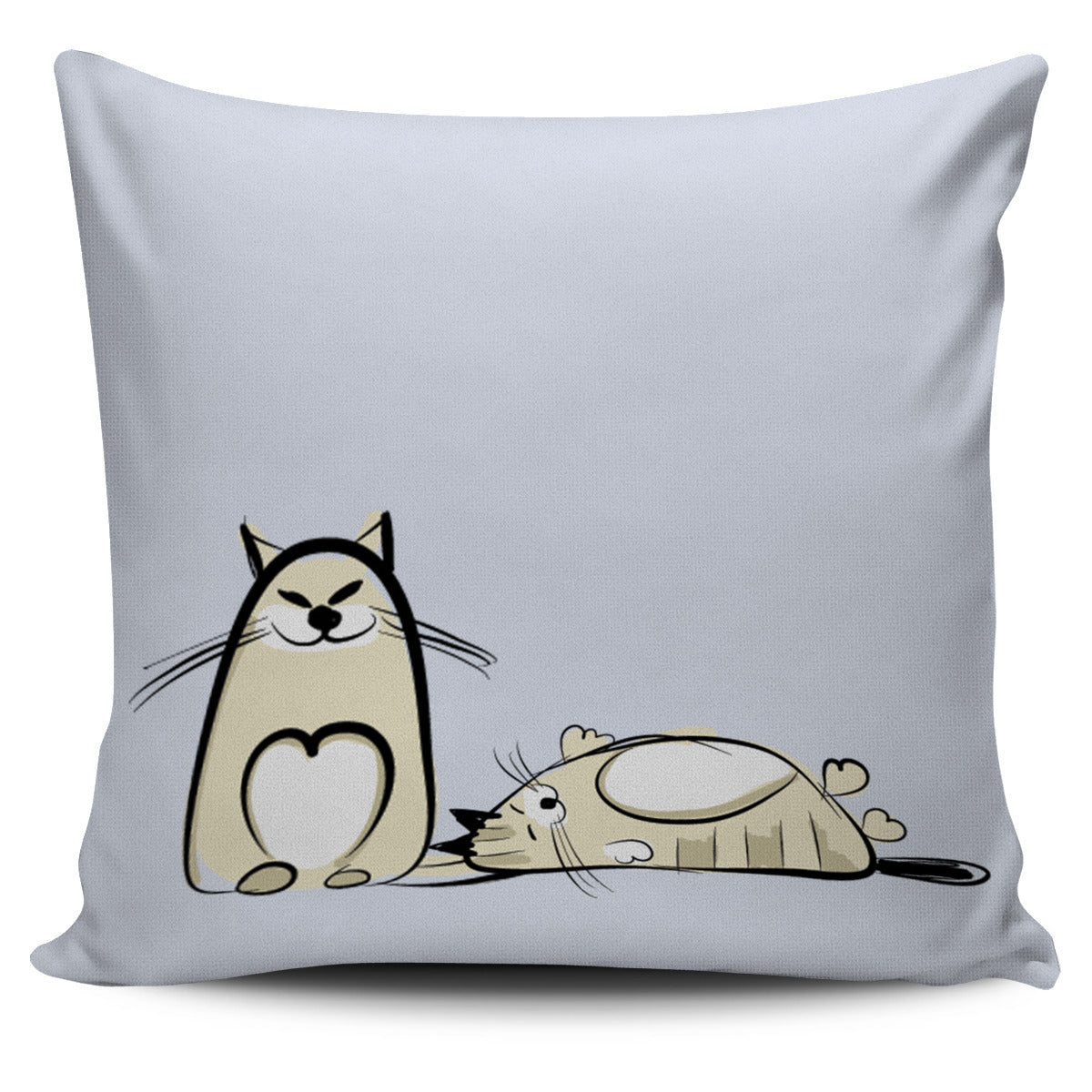 Funny Cat X Pillow Cover - Hello Moa