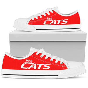 Love Cats Shoes (Red) - Hello Moa