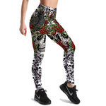 Flower Skull Leggings - Hello Moa