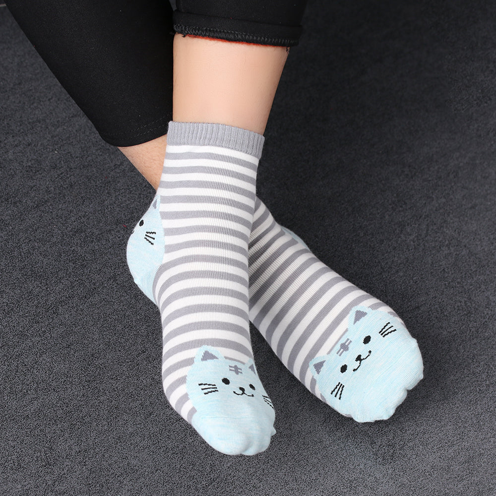 Cute Striped Cat Socks - Hello Moa