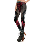 Black Rose Skull Leggings