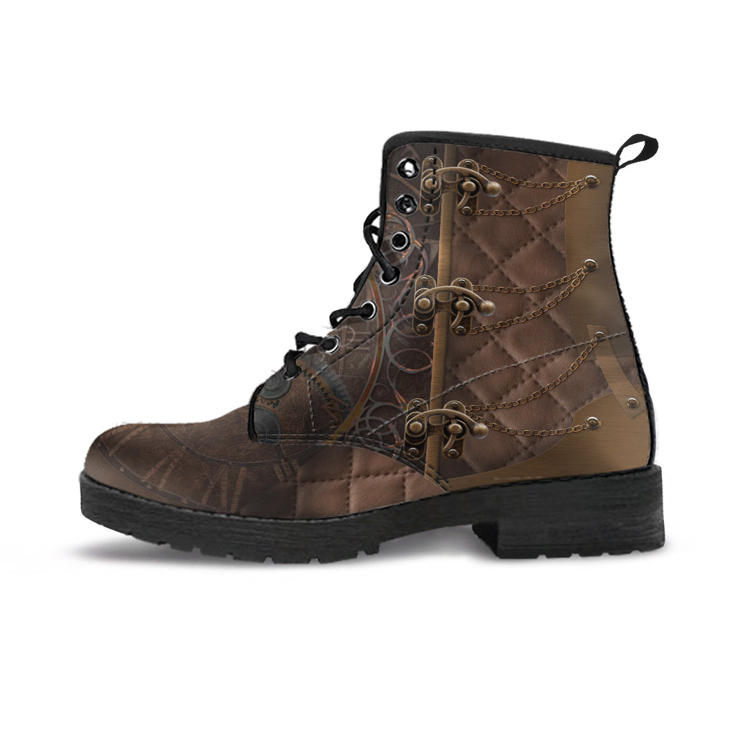 Express Steampunk Rustic Brown Boots (Men's) - Hello Moa
