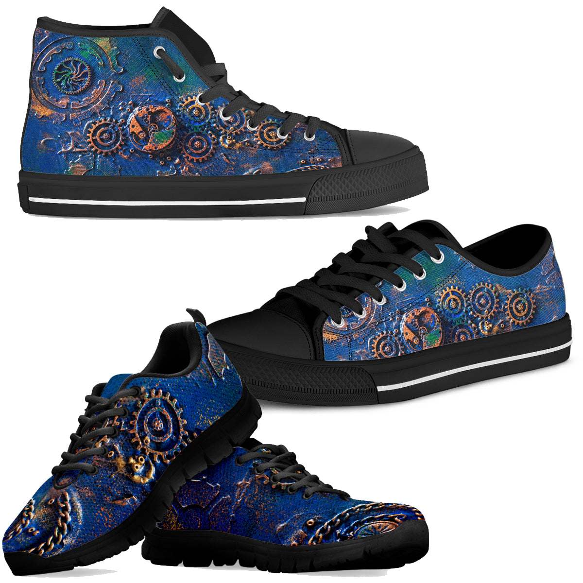 Blue Rust Shoes (Men's) - Hello Moa