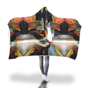 Art Cat Hooded Blanket - Hello Moa