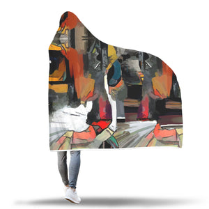 Art Cat II Hooded Blanket