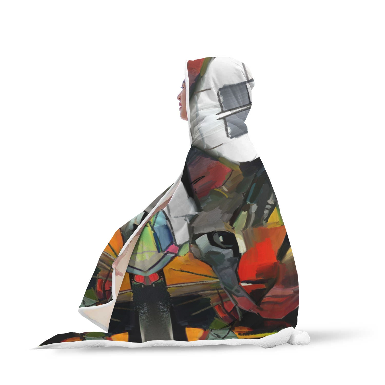 Art Cat III Hooded Blanket