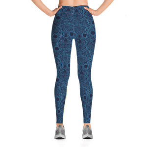 Blue Sugar Skull Leggings - Hello Moa
