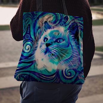 Blue Cat II Tote Bag