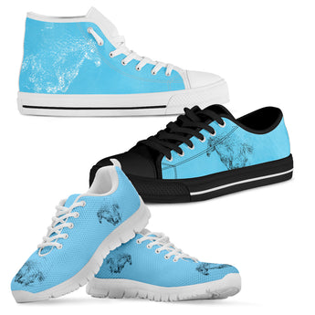 Blue Horse Shoes