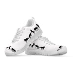 Kid's Black & White Horse Sneakers - Hello Moa