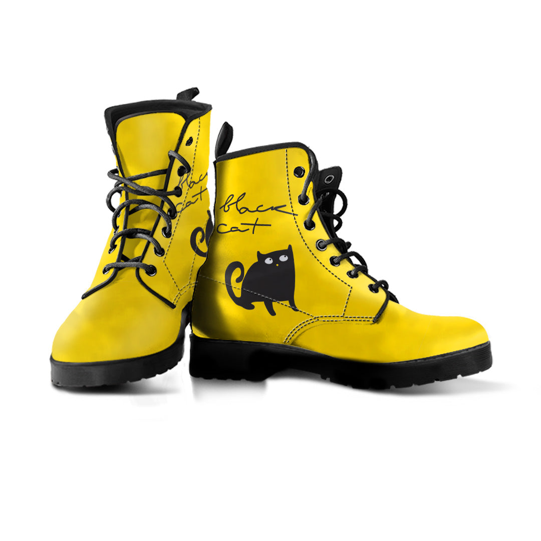 Black Cat & White Cat Boots (Women's) - Hello Moa
