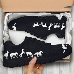 Black & White Horse Sneakers