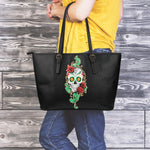 Green Sugar Skull Large Tote - Hello Moa