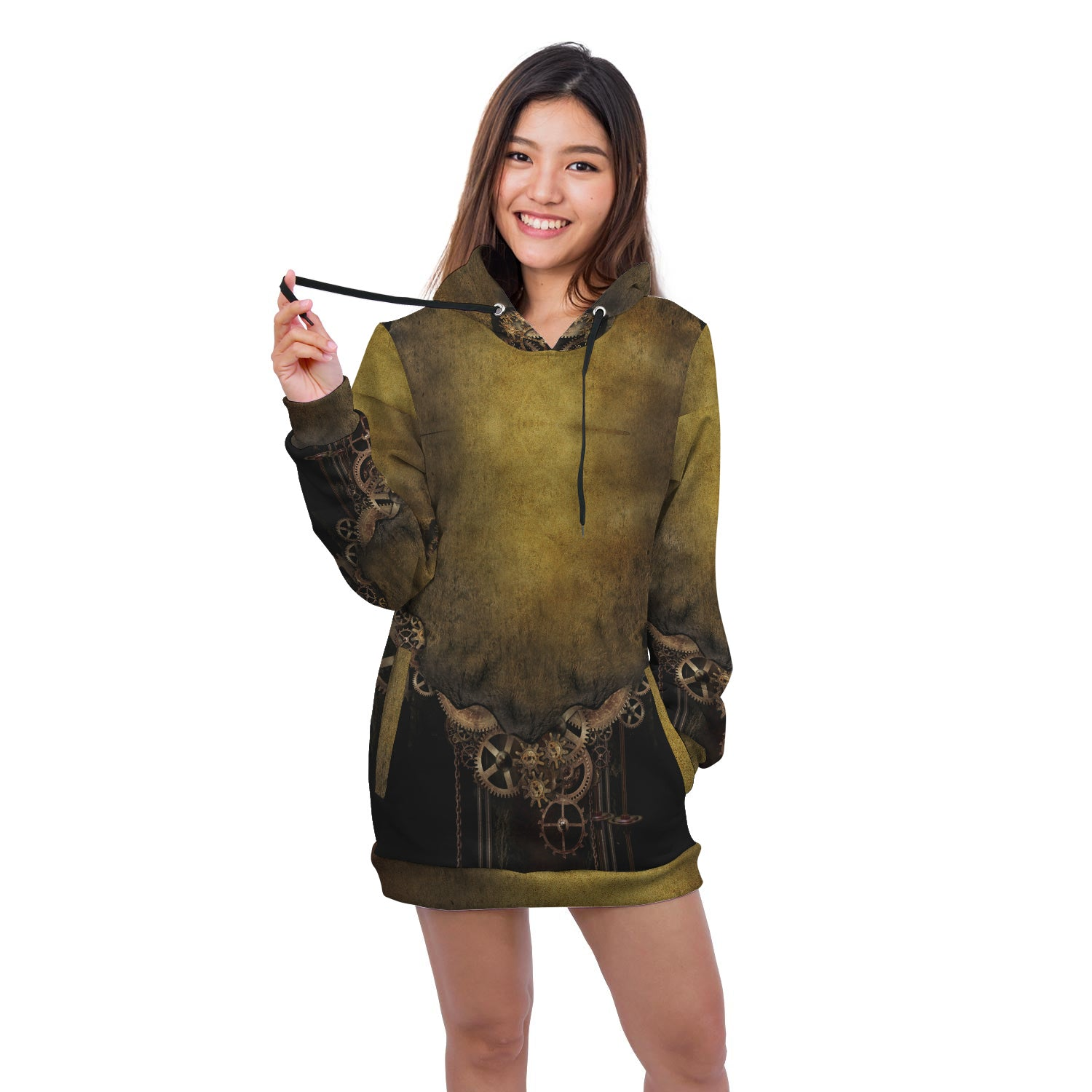 Steampunk Vintage Hoodie Dress - Hello Moa