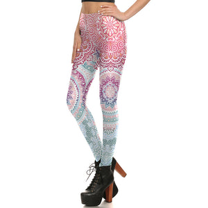 Pink & White Mandala Leggings