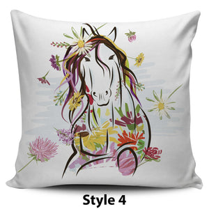 Watercolor Horse Pillow Covers - Hello Moa