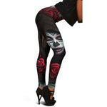 Black Rose Calavera Leggings