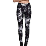 Black & White Sugar Skull Leggings - Hello Moa