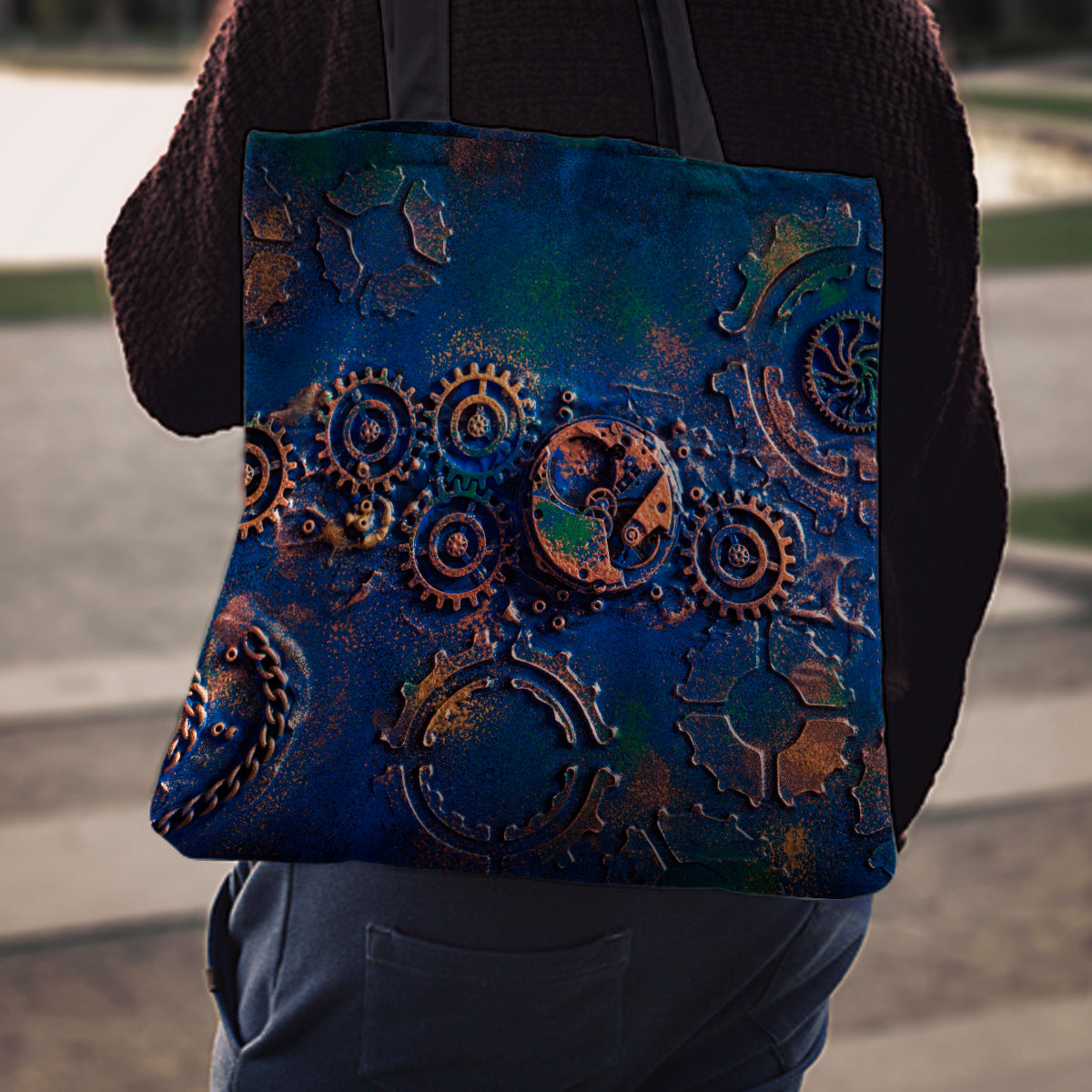 Blue Rust Cloth Tote - Hello Moa