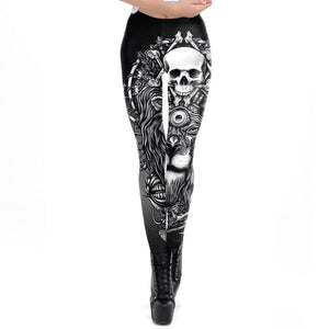 Skull Lion Leggings - Hello Moa