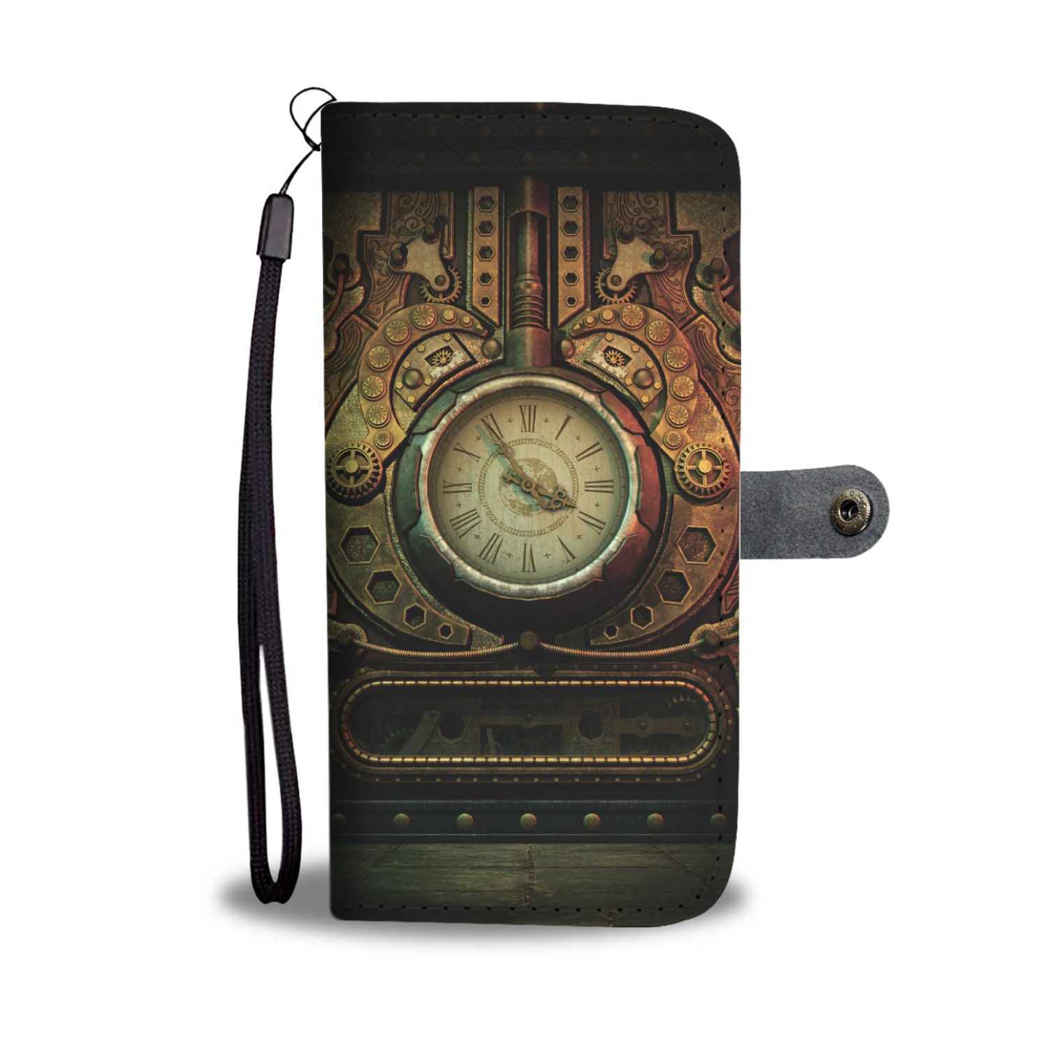 Steampunk Piston Clock Wallet