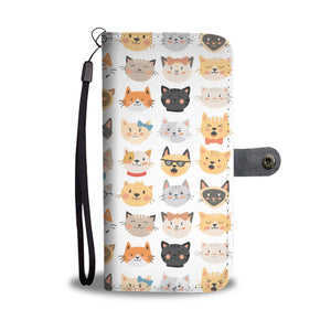 Cat Faces Wallet - Hello Moa