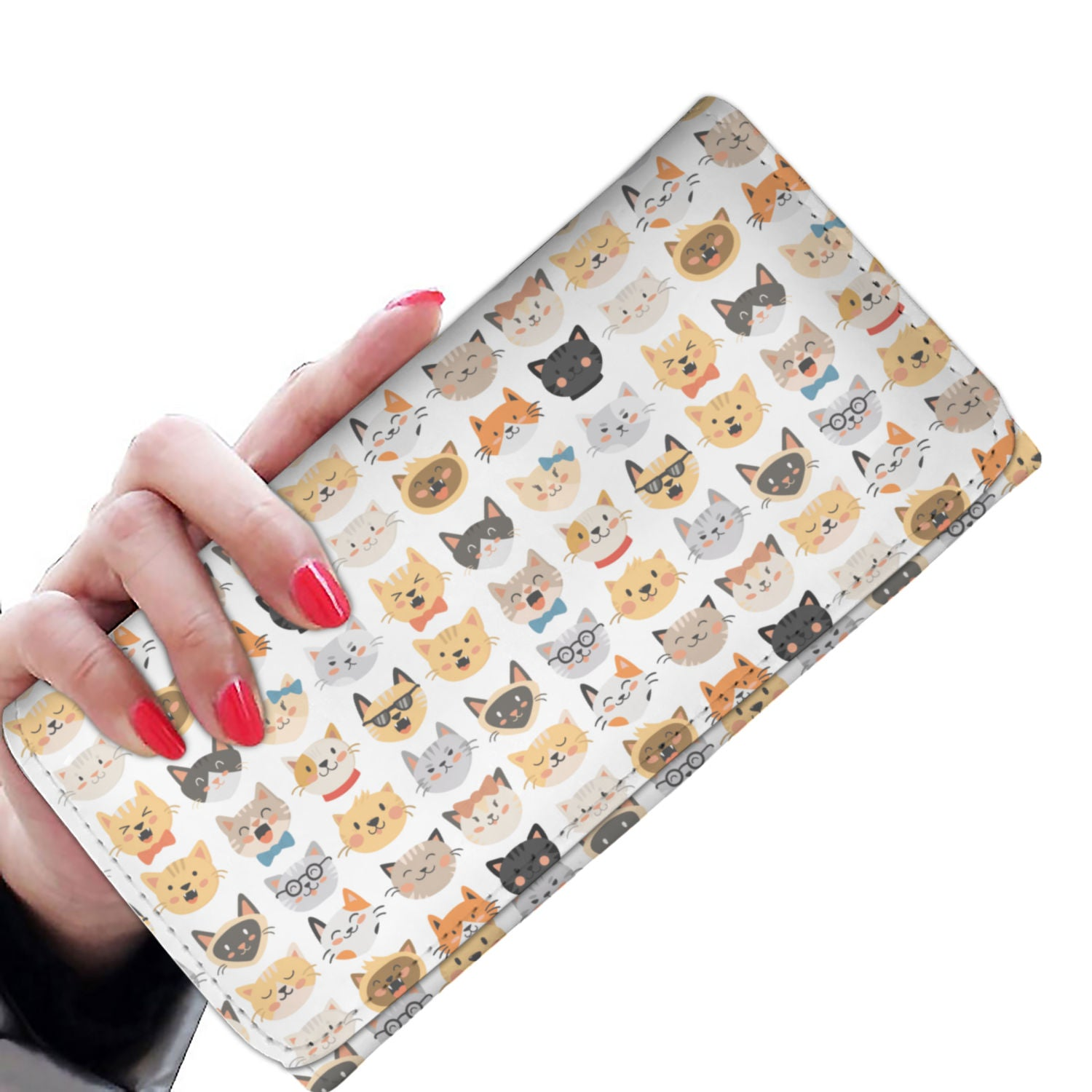 Cat Faces Purse - Hello Moa