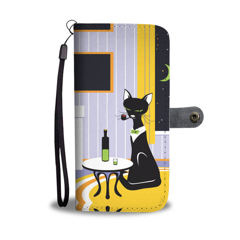 Cat & Wine Wallet