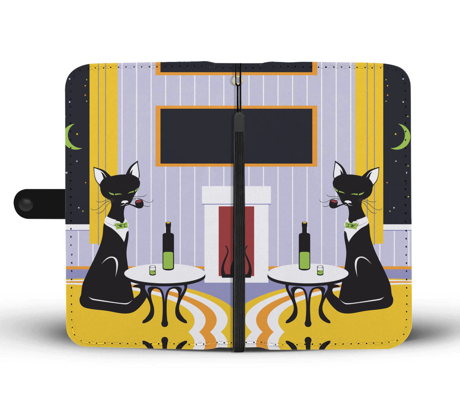 Cat & Wine Wallet - Hello Moa