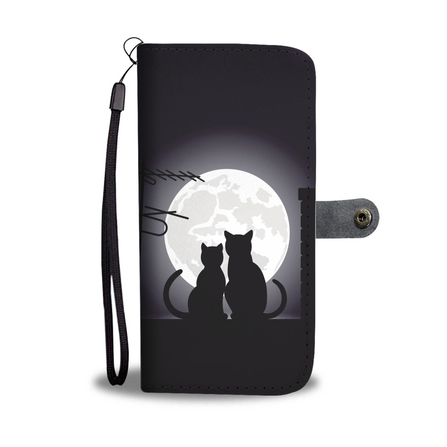 Night Moon Cat Wallet - Hello Moa