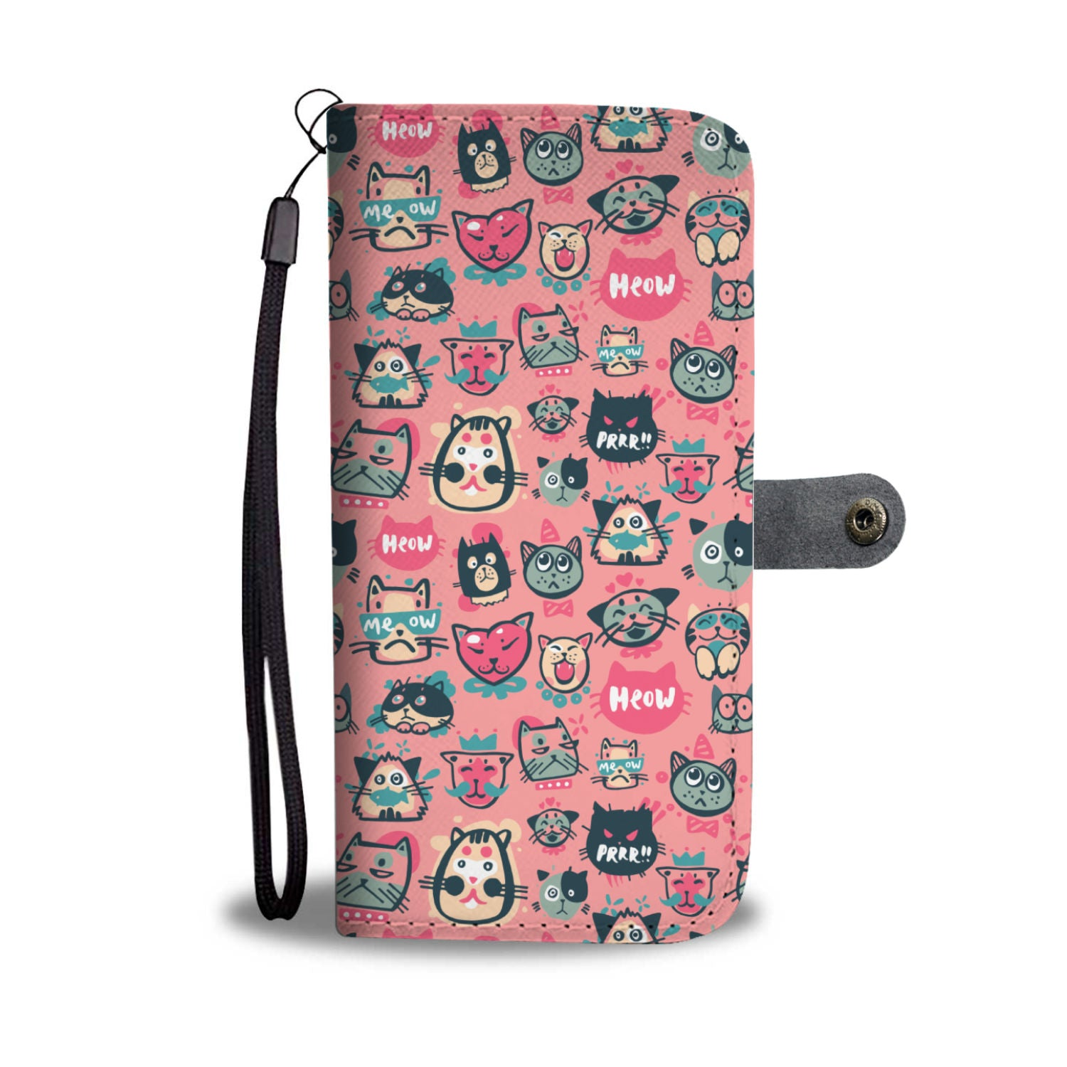 Pink Meow Cat Wallet - Hello Moa