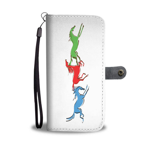 Galloping Colored Horse Wallet