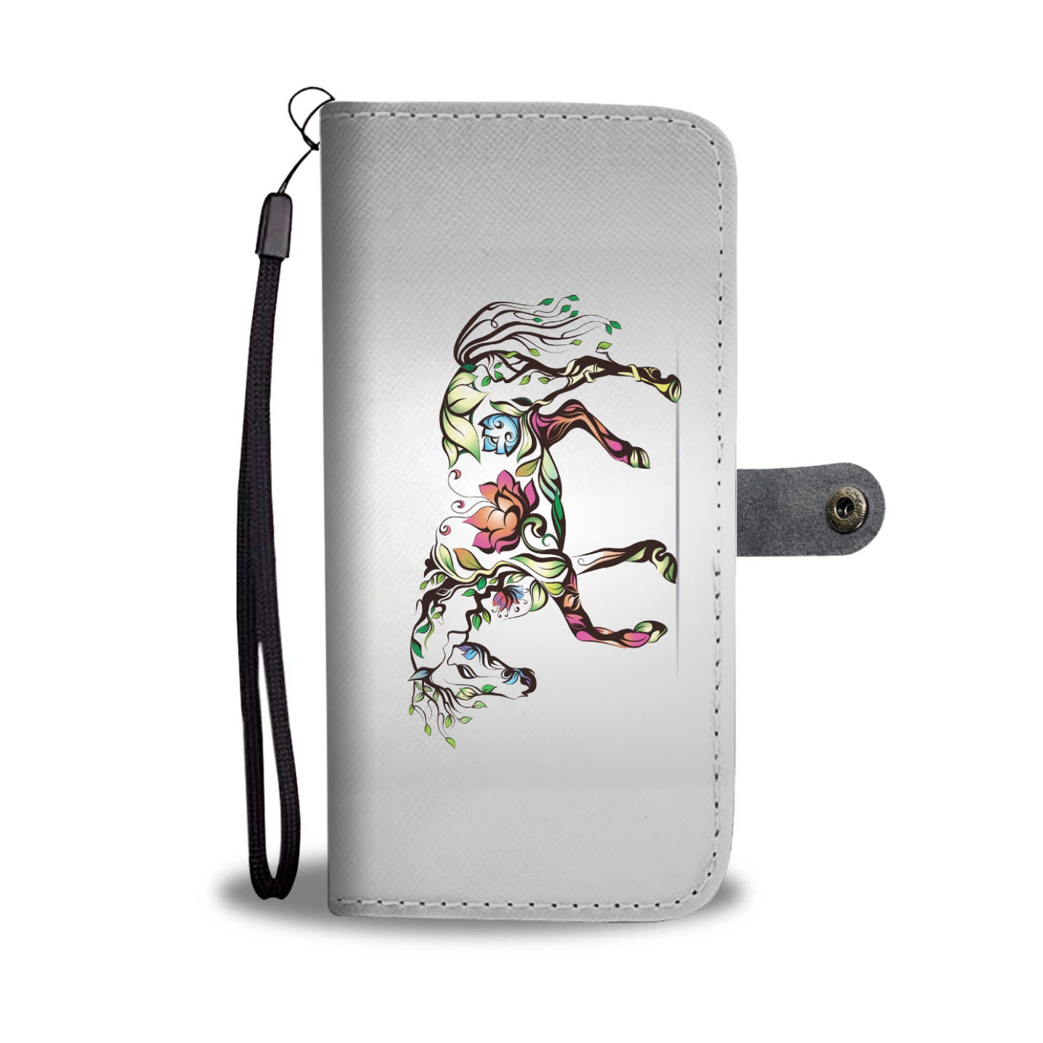 Colorful Flower Horse Wallet
