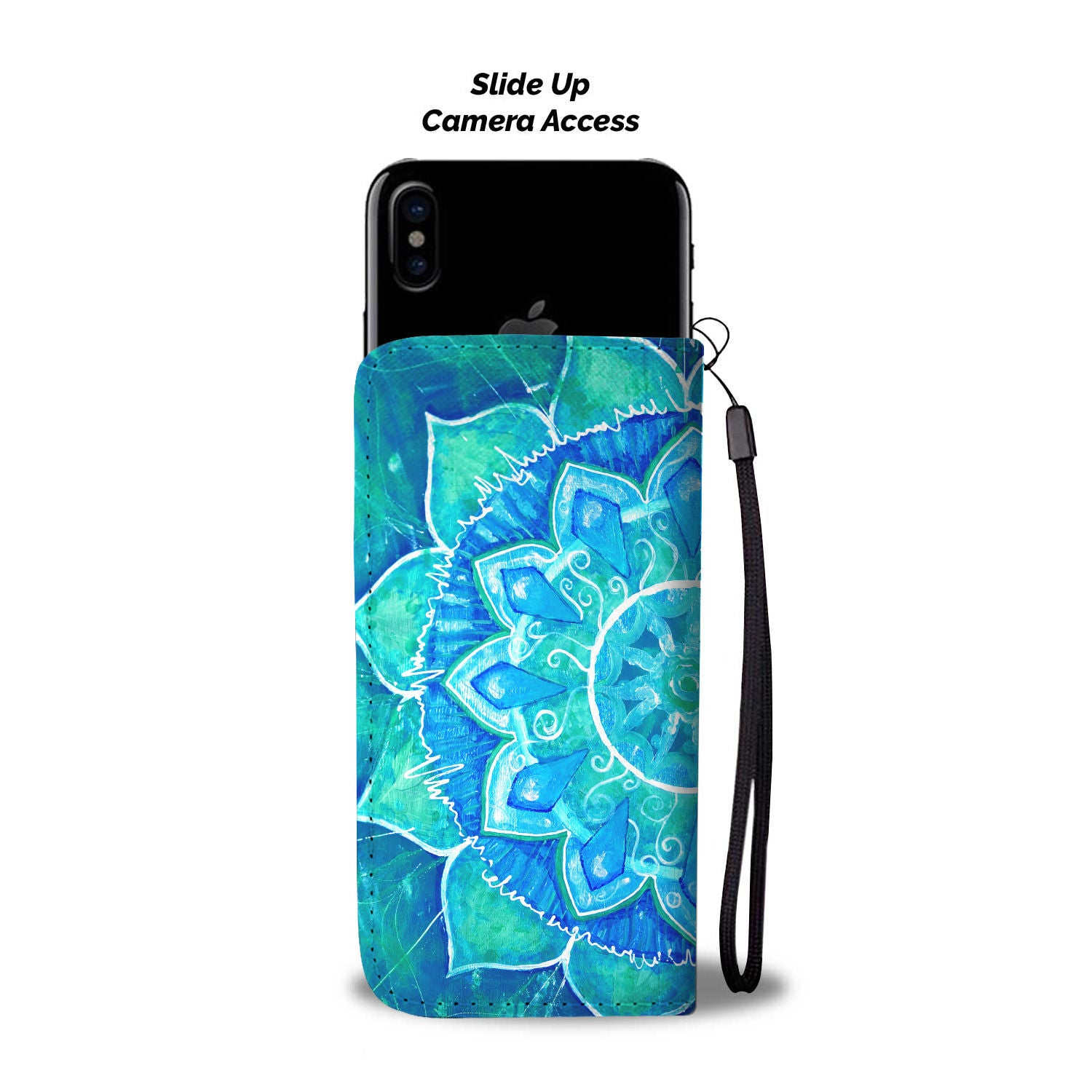 Blue Green Yoga Phone Wallet - Hello Moa