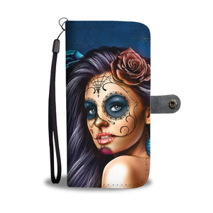Teal Calavera II Phone Wallet - Hello Moa