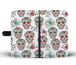 Teal Sugar Skull Phone Wallet