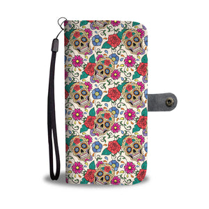 Rose Sugar Skull Phone Wallet - Hello Moa
