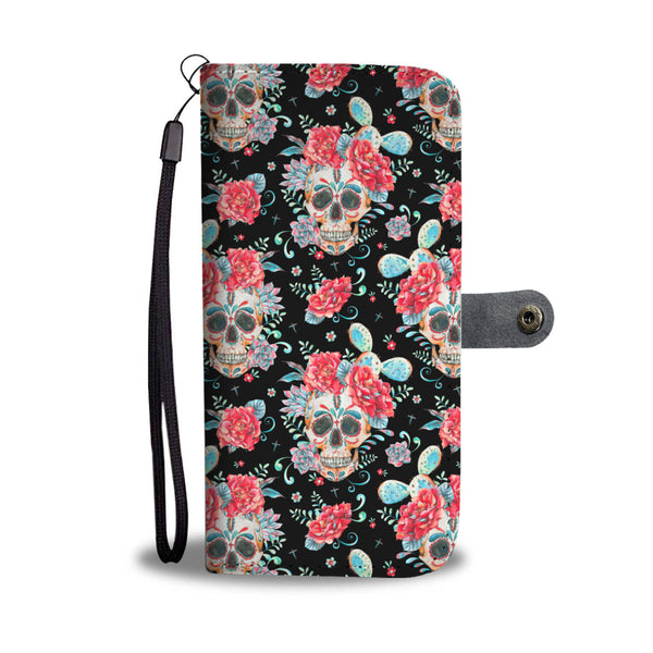 Rose II Sugar Skull Phone Wallet